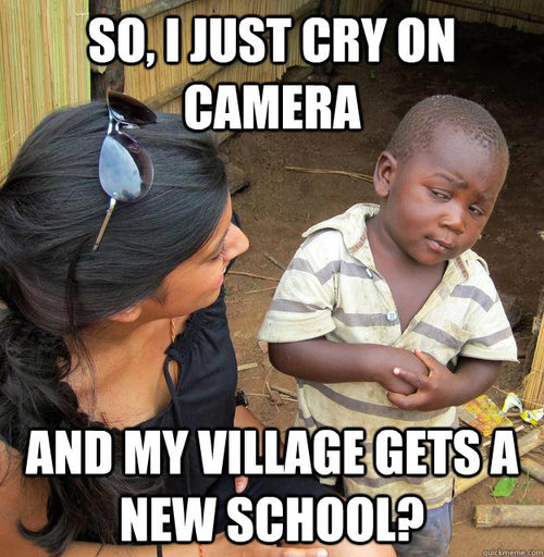 Cry on camera, get a new school